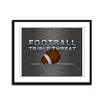 TOP Football Slogan Framed Panel Print