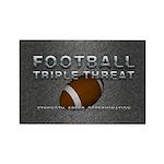 TOP Football Slogan Rectangle Magnet (10 pack)