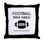 TOP Football Slogan Throw Pillow