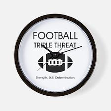 TOP Football Slogan Wall Clock