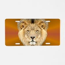 African Lion Aluminum License Plate