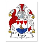 Herd Family Crest Small Poster