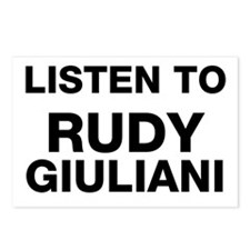 Listen to Rudy Giuliani Postcards (Package of 8)