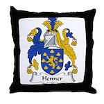 Henner Family Crest Throw Pillow
