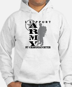I Support Granddaughte 2 - ARMY Hoodie