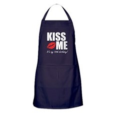 Kiss Me Its My 70th Birthday! Apron (dark)