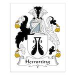 Hemming Family Crest Small Poster