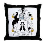 Hemming Family Crest Throw Pillow