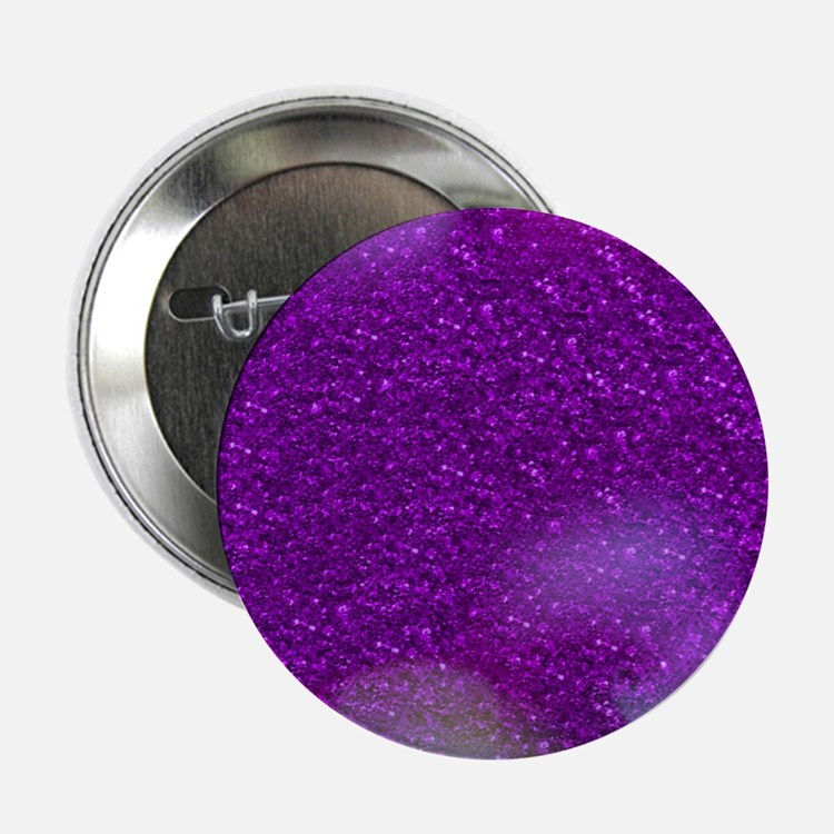 "Glitter Bokeh purple 2.25"" Button"