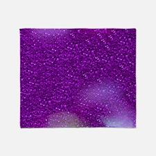 Glitter Bokeh purple Throw Blanket
