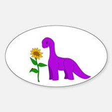 Sauropod And Sunflower Decal