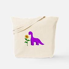 Sauropod and Sunflower Tote Bag