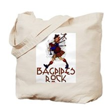 Bagpipes Rock Tote Bag