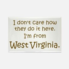 From West Virginia Rectangle Magnet