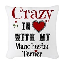 Manchester Terrier Woven Throw Pillow