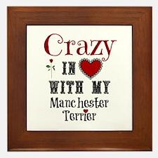 Manchester Terrier Framed Tile