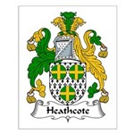Heathcote Family Crest Small Poster