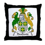 Heathcote Family Crest Throw Pillow