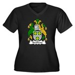 Heathcote Family Crest Women's Plus Size V-Neck Da