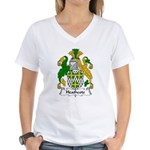 Heathcote Family Crest Women's V-Neck T-Shirt
