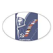 Cosmonaut Oval Decal