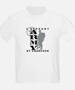 I Support Grandson 2 - ARMY T-Shirt