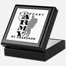 I Support Grandson 2 - ARMY Keepsake Box