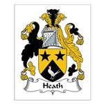 Heath Family Crest Small Poster