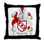 Haywood Family Crest Throw Pillow