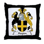 Hayton Family Crest Throw Pillow