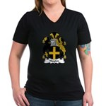 Hayton Family Crest Women's V-Neck Dark T-Shirt