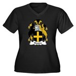 Hayton Family Crest Women's Plus Size V-Neck Dark