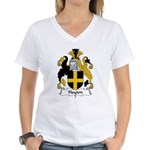 Hayton Family Crest Women's V-Neck T-Shirt
