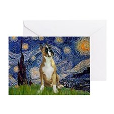 Starry Night & Boxer Greeting Card