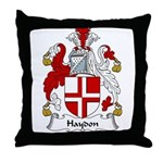 Haydon Family Crest Throw Pillow