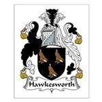 Hawkesworth Family Crest Small Poster