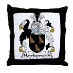Hawkesworth Family Crest Throw Pillow