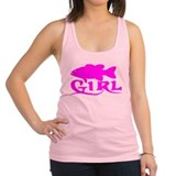 Fishing girl Womens Racerback Tanktop