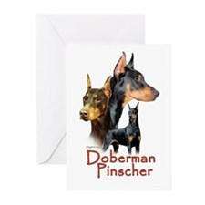 Doberman Pincher-1 Greeting Cards (Pk of 10)