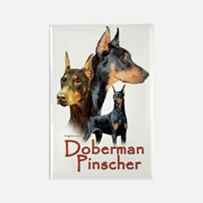 Doberman Pincher-1 Rectangle Magnet