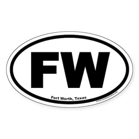 Fort Worth, Texas FW Oval Sticker