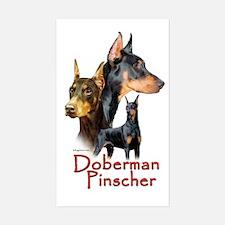 Doberman Pincher-1 Rectangle Decal