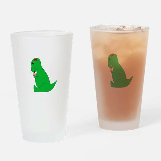 T-Rex Ice Cream Cone Drinking Glass
