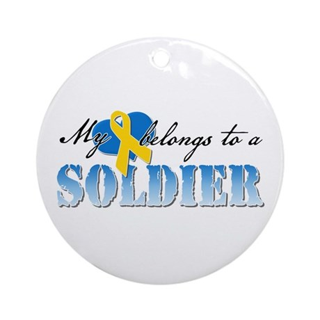 My Heart Belongs to a Solider Ornament (Round)