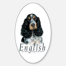 English Cocker Spaniel-1 Oval Bumper Stickers