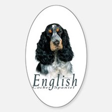 English Cocker Spaniel-1 Oval Decal