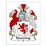 Havering Family Crest Small Poster