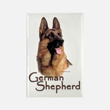 German Shepherd Dog-1 Rectangle Magnet (100 pack)