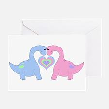Adoring Apatosaurus Greeting Cards