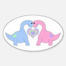 Adoring Apatosaurus Decal